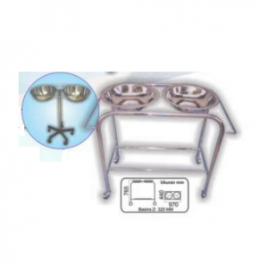 Double Bowl Stand, Star & Cart Type (SS) MLY 506-010 (4020-S)