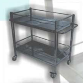 Utility Cart Two Shelves (SS) MLY 510-045A (7020-S)